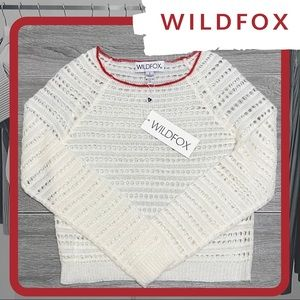 🐰 NWT WILDFOX Cream Thin Knit Sweater